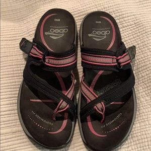 Abeo Walking Sandals Bio System Black/Pink Sz 8